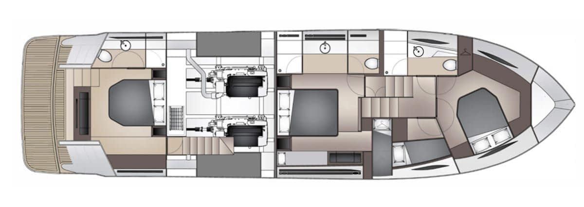 Maritimo X60 - Aft Cabin Option 02