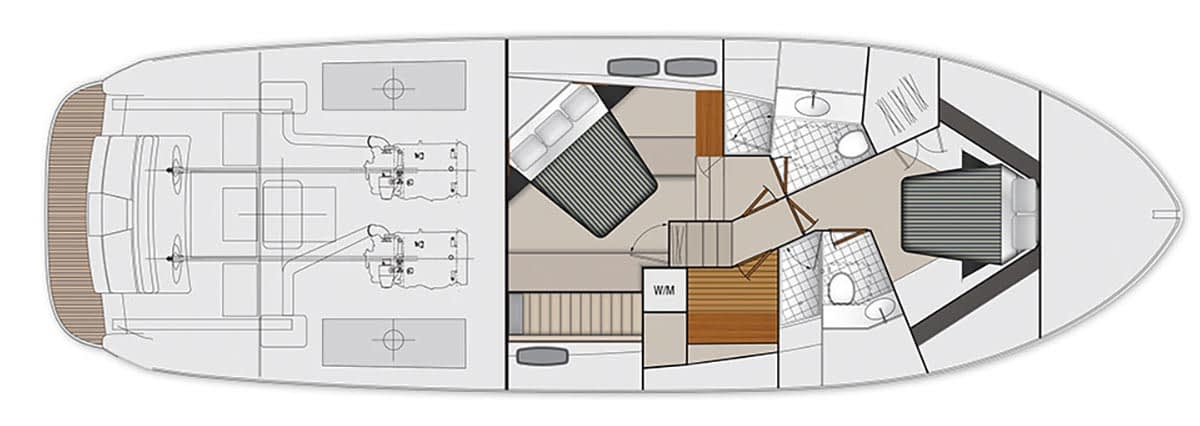 Maritimo M51 - Accommodations Third Cabin (Standard)