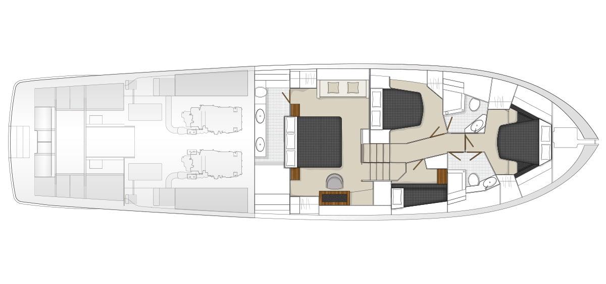 Maritimo S70 Accommodations