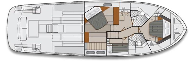 Maritimo M54 Accommodations