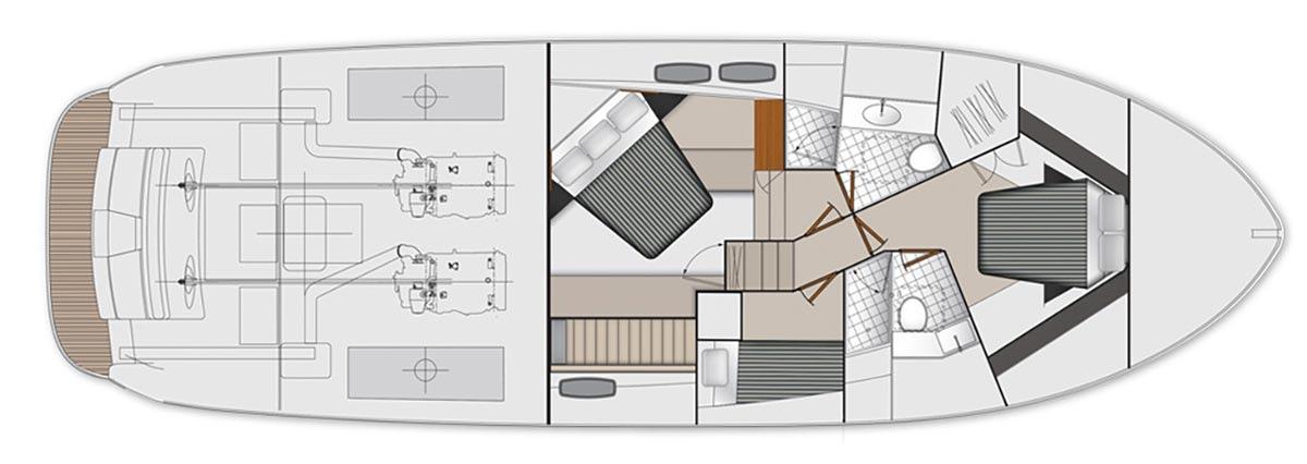 Maritimo S51 Accommodations