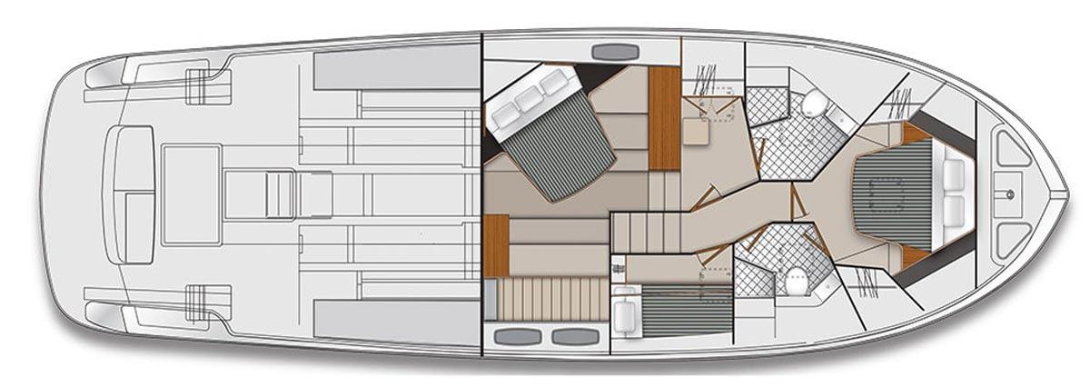 Maritimo S54 Accommodations