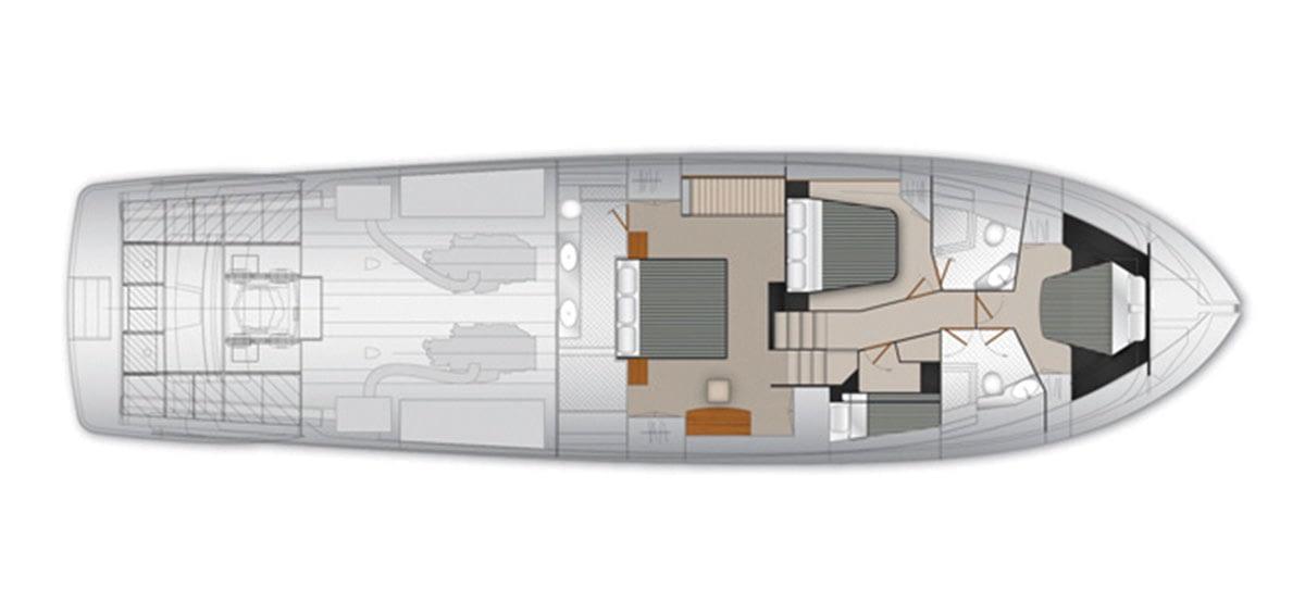 Maritimo M70 - Accommodations